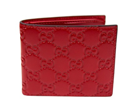 Shop GUCCI  Wallet: Gucci red leather Guccissima wallet. 100% calf leather Made in Italy. 365466 CWC1R-6433