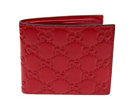 Gucci gucci portafoglio rosso in pelle gucc corteccisiena for Portafoglio gucci guccissima