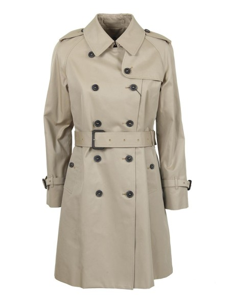 Shop MACKINTOSH Sales Overcoat: Mackintosh double-breasted cotton trench coat. 10 button closure. Long sleeves. with adjustable cuff. Detachable wool lining, checked. Belt included. Composition 100% cotton. Dry clean only. Made in the UK.. 4582D LM003FD YG-07