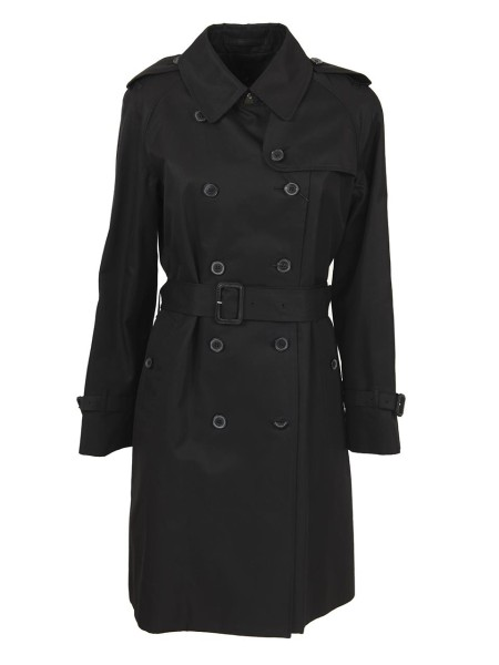 Shop MACKINTOSH Sales Overcoat: Mackintosh double-breasted cotton trench coat. 10 buttons closure. Long sleeves. with adjustable cuff. Detachable wool lining, checked. Belt included. Composition 100% cotton. Dry clean only. Made in the UK.. 4582D LM003FDYG-01