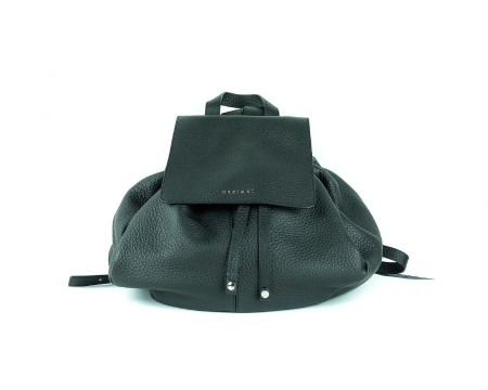 "Shop ORCIANI  Backpack: Orciani black backpack "" soft double "" in hammered leather. Made in Italy.. BO1968 SOFT -N"