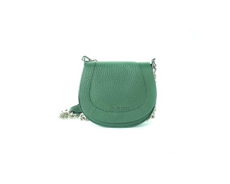 "shop ORCIANI  Borsa: Orciani mini bag verde in pelle martellata "" soft double "" con tracolla in metallo e pelle. Made in Italy.. SD0136 SOFT-V number 9935813"