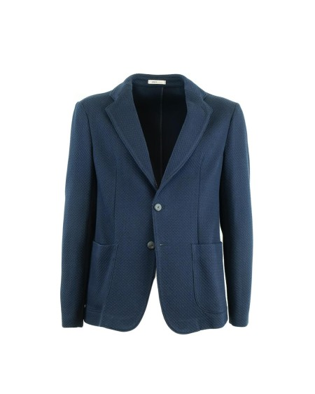 Shop ARMANI COLLEZIONI Sales Jacket: Armani Collezioni blue jacket. Pocket pockets. Closed in the back. Slim fit. Composition: 100% cotton. Made in Italy.. ZCG870ZCS01-926