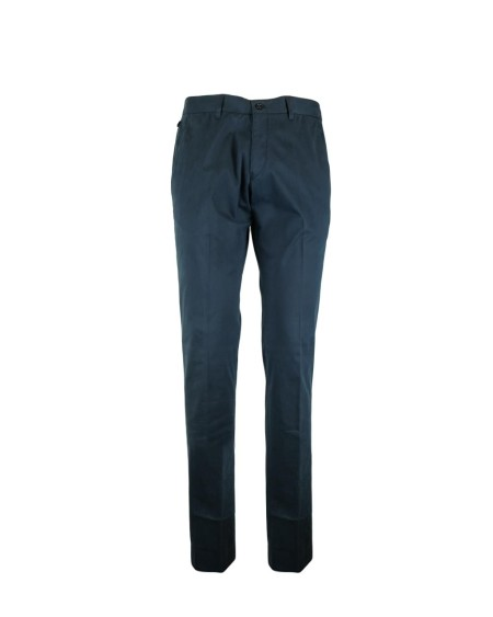 Shop ARMANI COLLEZIONI Sales Trousers: Armani Collezioni blue trousers. Back pockets with buttons. Zip closure. Composition: 98% cotton 2% elastan. Made in Italy.. ZCP73E0CS53-999