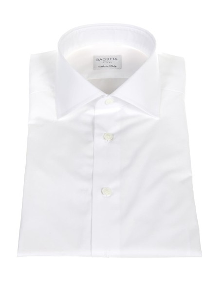 Shop BAGUTTA  Shirt: Bagutta white shirt in cotton. Double cuff for twins. Semi-French collar. Composition: 100% cotton. Made in Italy.. B345D CN0170-001
