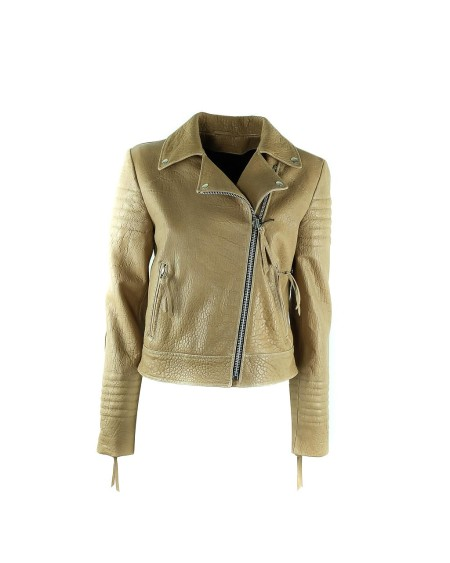 Shop DROME  Giacchetto: Drome chiodino in pelle beige. Made in Italy.. DPD2716D1127-1140
