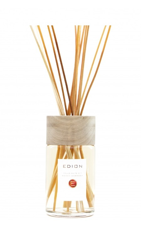 Shop EDION  Perfume: Edion perfume for environment Woods Harmony cello suite 7. Intense and deep fragrance of centuries-old wood. Head: bergamot, lemon, bois de rose. Heart: black pepper, cedar wood, patchouly wood, vetiyver. Background: amber vanilla, incense, musk. Capacity: 250 ml. Made in Italy.. CELLO SUITE 7 WOODS-ML250