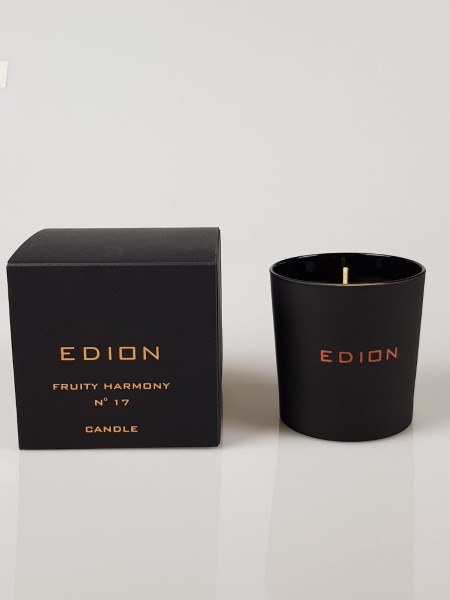 Shop EDION  Profumo: Edion candela Fruit Harmony cello suite n 17. Note floreali, speziate con sentore finale di vaniglia. Durata: 45 ore. Made in Italy.. CELLO SUITE N17 FRUITY-CANDLE