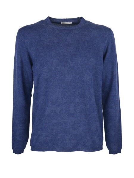 Shop ETRO Sales Pullover: Etro merinos wool round neck jumper. Paisley design tone on tone. Long sleeves. Regular fit. Composition: 100% wool. Dry clean only.. 1M3469664-0200