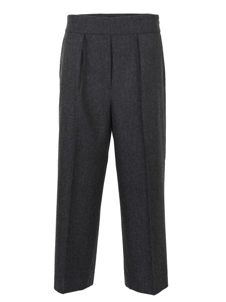 Shop FABIANA FILIPPI Sales Trousers: Fabiana Filippi trousers in dark gray cashmere blend. High waist. Closure with hidden side zip. Comfort fit. A pences. Ankle length. Composition: 90% wool 8% cashmere 2% elastane. Made in Italy.. PG82317V120-8061