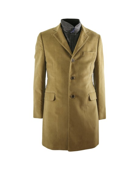 Shop FAY  Cappotto: Double coat Fay beige. Chiusura con tre bottoni. Doppia tasca con patta e taschino. Gilet rimovibile all'interno. Made in Italy.. NAM533513900NJ-S407
