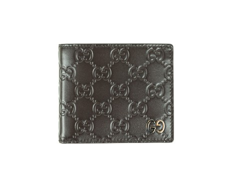 shop GUCCI  Portafogli: Portafogli Gucci signature marrone. Applicazione logo oro. Interni in pelle marrone. Due scomparti per le banconote e otto fessure per carte di credito e documenti. Misure: larghezza: 11cm; altezza: 9cm. Made in Italy. New collection.. 473916CWC1N-2140 number 5738475