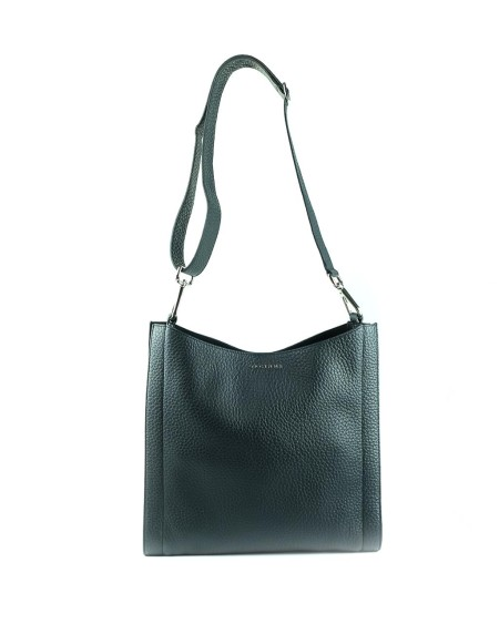 "Shop ORCIANI  Bag: Orciani shoulder bag "" Iris "" in black soft leather. width: 32 cm height: 31 cm depth: 10 cm. Made in Italy.. B01986-N"