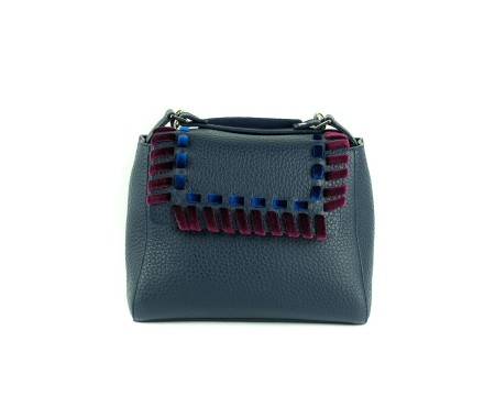 "Shop ORCIANI Sales Bag: Orciani blue small Sveva "" ethnic velvet "" with velvet embroidery. Shoulder belt included. width: 26 cm height: 20 cm depth: 13 cm. Made in Italy.. B01999-B"