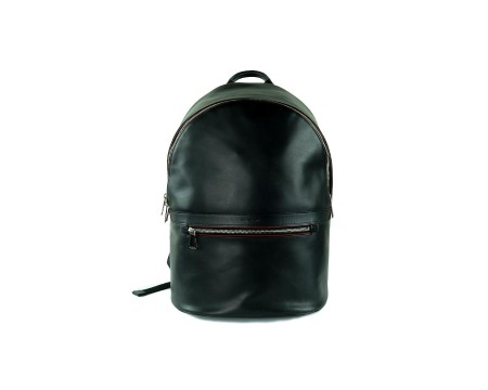 Shop PAUL SMITH  Backpack: PS by Paul Smith black backpack. 100% cow leather. One carry handle.Outer zip fastening. Outer pocket with zip. One big inner renforced pocket for tablet or laptop. One opened inner pocket. Included logoed protective slipcover. Sizes: width 29 cm height 42 cm depth 15 cm.. ATXD5016L843-79