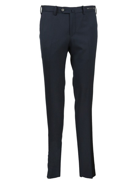 Shop PT01 Sales Trousers: PT 01 wool stretch trousers super slim fit. Fastener overlaid with zip and buttons. Threaded pockets. Front and back pocket for coins. Rear pockets with button. Composition: 54% polyester 44% wool 2% elastane. Washable at 30 ° C  inside-out separately. Made in Italy.. C0DSTVZ00WTRP036-0360