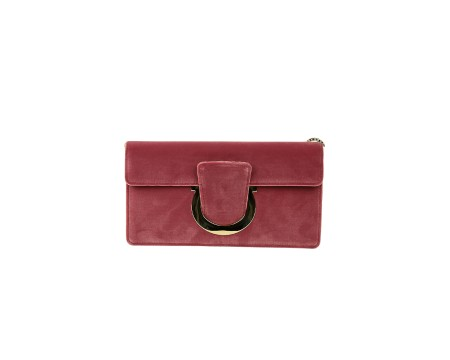 Shop SALVATORE FERRAGAMO  Bag: Ferragamo pink suede Thalia bag. Closing with Ferragamo hook. Shoulder stap in chain removable. Size: width: 24cm; height: 13cm; depth: 3cm. Made in Italy.. 21G862 THALIA-682243