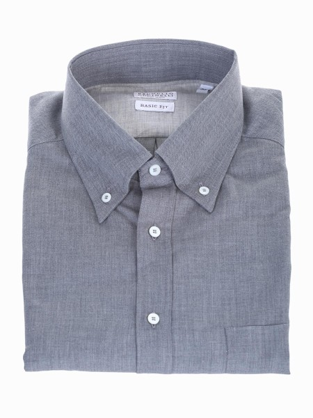 Shop BRUNELLO CUCINELLI  Camicia: Brunello Cucinelli Camicia color grigio button down. Basic fit. Composizione: 100% cotone. Made in Italy.. MG6710068-C045