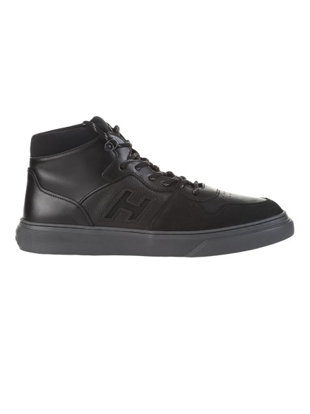 Shop HOGAN Sales Shoes  Hogan H365 Hi-Top sneakers Crafted in nubuck and  leather ... c330ec52fdf