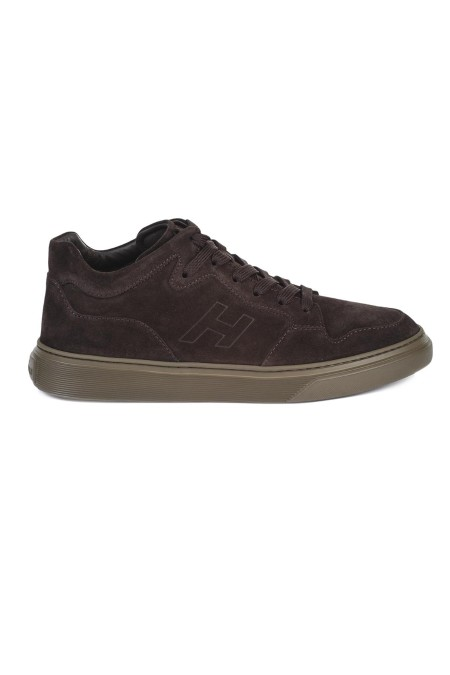 Shop HOGAN Sales Shoes: Hogan H365 MidCut brown leather sneaker. Leather upper. Rubber outsole. Made in Italy.. HXM3650AN30HG0-S807