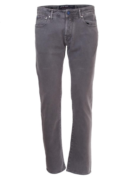 Shop JACOB COHEN Saldi Jeans: Jacob Cohen Jeans a gamba dritta in denim stretch grigio. Composizione: 98% cotone, 2% fibra sintetica. Made in Italy.. J688 COMF 05406-V930