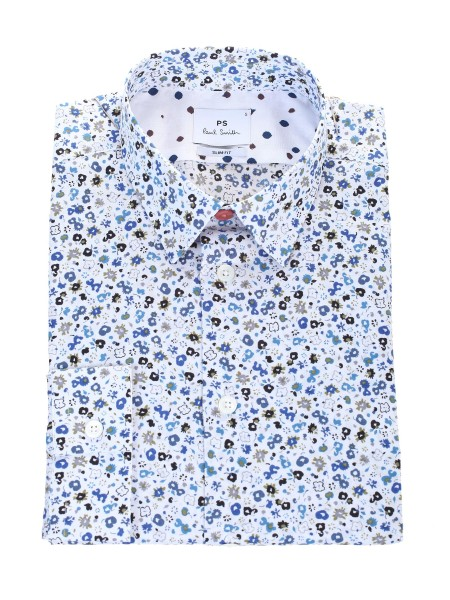 shop PAUL SMITH  Camicia: Paul Smith Camicia In cotone Slim Fit. Colletto a punta morbida button down. Bottone superiore a contrasto. Orlo Curvo. Composizione: 100% cotone.. M2R 433R A20167-01 number 2288885