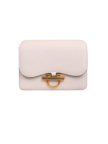 35cd569abf6 Shop SALVATORE FERRAGAMO Bag  Salvatore Ferragamo bag in white calf leather.  Front flap decorated ...