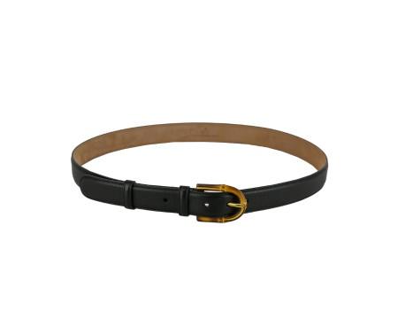 gucci 3cm belt. shop gucci cintura: gucci black belt. brown bamboo buckle. 3cm belt