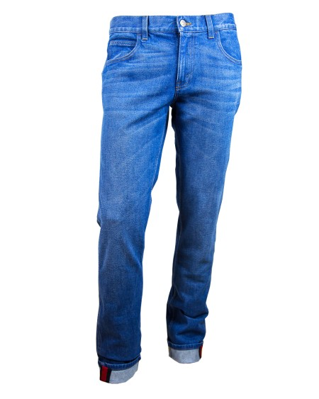 Shop GUCCI  Jeans: Jeans Gucci blu skinny Made in Italy. 452429XR370-4394