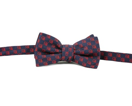 Shop GUCCI  Papillon: Gucci Blue papillon. Hamlet bow with red skull. Made in Italy.. 456364 4G009-4074
