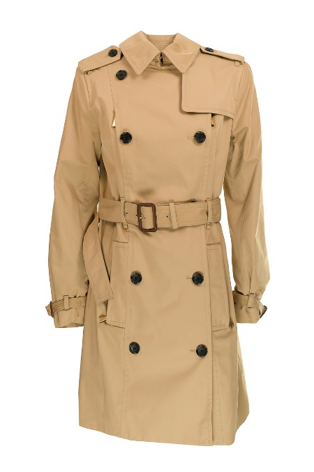 Shop MICHAEL KORS  Overcoat: Michael Michael Kors waterproof double-breasted trench beige. Removable waist belt. Adjustable cuffs. Closure with double row of buttons and neck fastener. Two front pockets with button. Two front pockets with zip. Rear central slit. Outside composition: 56% cotton 44% polyester. Lining: 97% polyester 3% elastane. Dry clean only.. MH62HMMX36-250