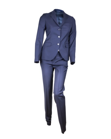 Shop TAGLIATORE 0205  Dress: Tagliatore blue coat in wool. Made in Italy.. TFDM13BS08007-B135