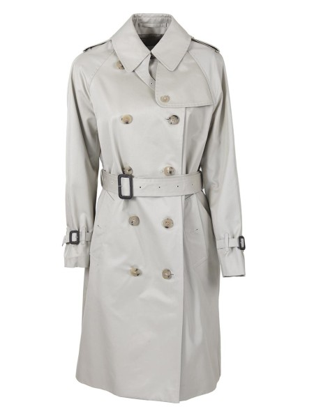 Shop MACKINTOSH Sales Overcoat: Mackintosh double-breasted cotton trench coat. 10 button closure. Long sleeves, with adjustable cuff. Belt included. Composition 100% cotton. Dry clean only. Made in the UK.. 4711 YG3H3H LM040F-YG08