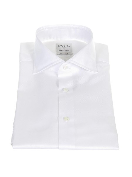 "Shop BAGUTTA  Shirt: Bagutta white shirt  for cuff links. ""Easy iron"" model. Tailored fit. Made in Italy.. B386D CN2418-001"