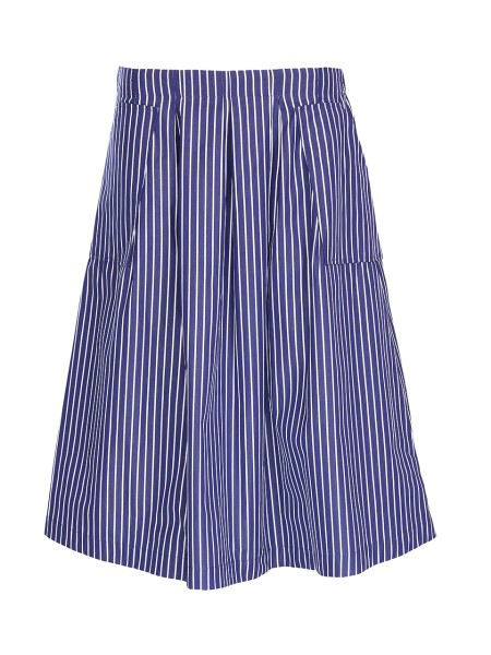 Shop BAGUTTA  Skirt: Bagutta skirt with stripes. White and blue stripes. Two lateral pockets. 100% cotton.. MARTA 07757-250