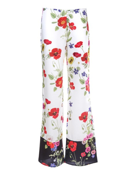 Shop BLUGIRL  Trousers: Blugirl palazzo pants with floral print. Composition: 100% polyester.. 5356-00818