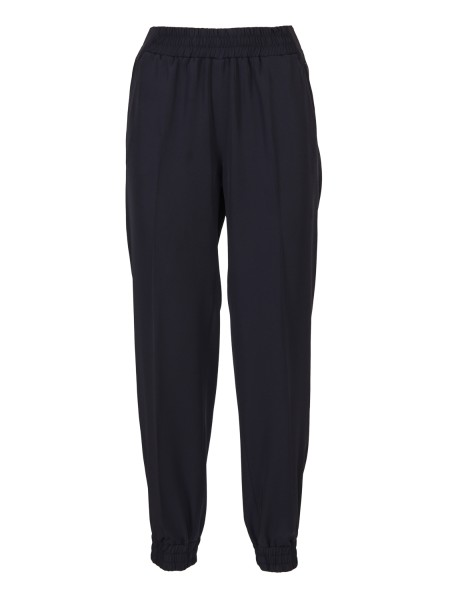 Shop BLUMARINE  Trousers: Blumarine trousers with elasticated waist. Bottom with elastic. Thread pockets. High waist. Composition. 88% polyester 12% elastane. Made in Italy.. 1570-00109
