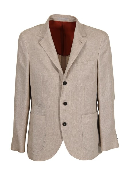 Shop BRUNELLO CUCINELLI  Jacket: Brunello Cucinelli jacket deconstructed in hopsack of linen, wool and silk. Button closure. Patch pockets. Two side slits, rear. Composition: 49% linen 32% wool 19% silk. Made in Italy.. MH4227BND-C1587