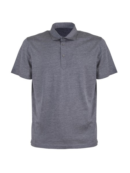 Shop BRUNELLO CUCINELLI  Polo Shirt: Brunello Cucinelli polo shirt in silk and cotton. Short sleeves. Three-button closure. Composition: 60% silk 40% cotton. Made in Italy.. MTB463936 -C572