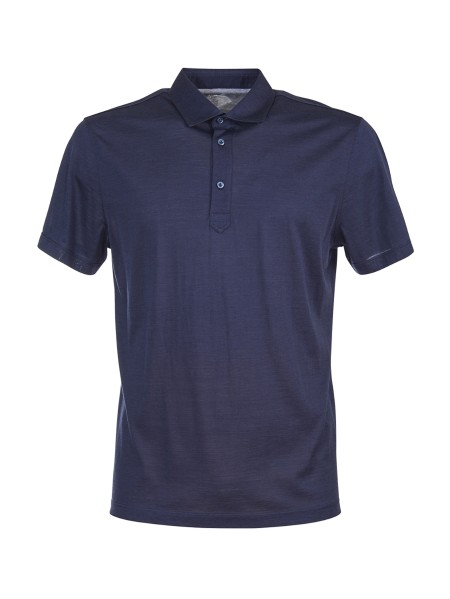 Shop BRUNELLO CUCINELLI  Polo Shirt: Brunello Cucinelli polo shirt in silk and cotton. Short sleeves. Three-button closure. Composition: 60% silk 40% cotton. Made in Italy.. MTB463936 -C574