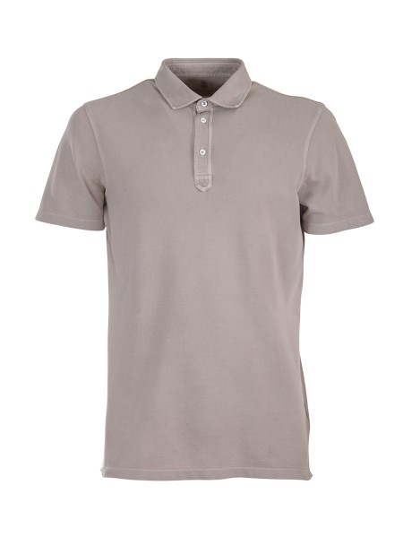 Shop BRUNELLO CUCINELLI  Polo Shirt: Brunello Cucinelli polo shirt in washed cotton. Short sleeves. Three-button closure. Composition: 100% cotton. Made in Italy.. MTT633936-C9063