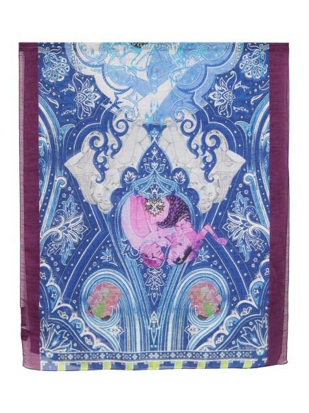 Shop ETRO  Scarf: Etro scarf in linen and silk. Traditional paisley design. Fringed edges. Composition: 68% linen 32% silk. Made in Italy.. 10007 5103-0200