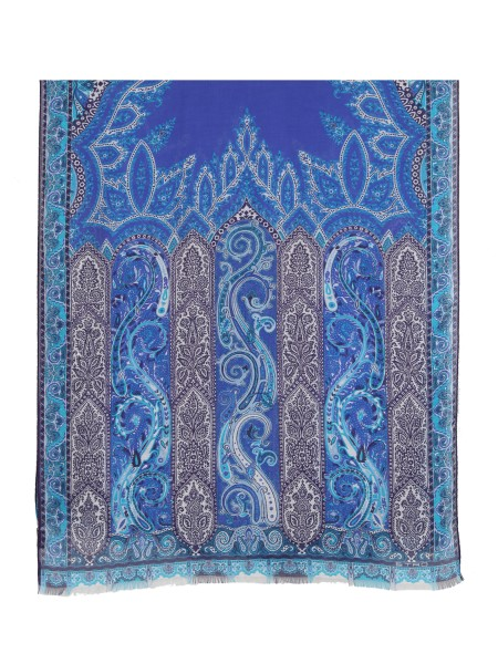 Shop ETRO  Scarf: Etro scarf in modal and cashmere. Traditional paisley design. Fringed edges. Composition: 90% modal 10% cashmere. Made in Italy.. 10007 5110-0200