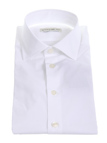 Shop ETRO  Shirt: Etro white shirt in cotton. Small French collar. Cuff with button. Contrasting white buttons. Composition: 100% cotton. Made in Italy.. 11451 6450-0990
