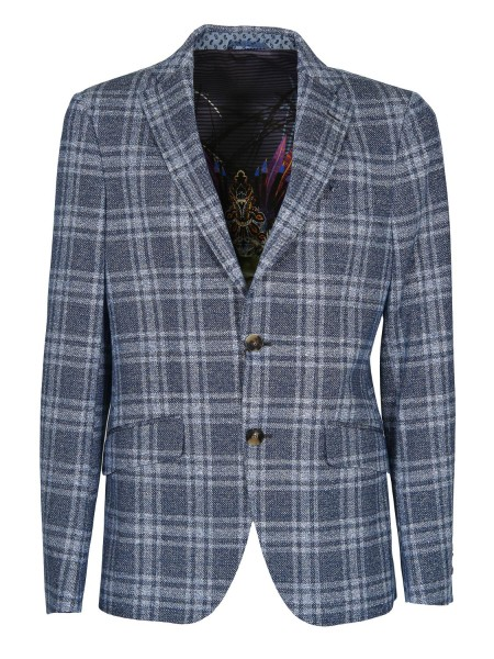 Shop ETRO  Jacket: Etro checked jacket in cotton and linen jersey. Pockets with flap. Closure with two buttons. Two side slits, rear. Composition: 56% cotton 44% linen. Made in Italy.. 1187Q 1061-0250