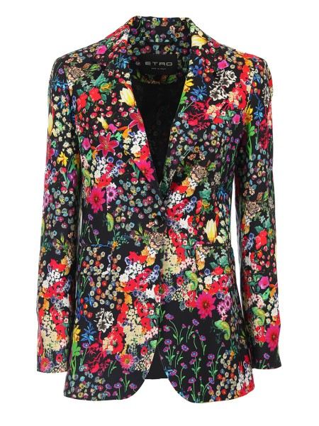 Shop ETRO  Jacket: Etro floral print blazer in viscose cady. Button closure. Composition: 100% viscose. Made in Italy.. 17600 4421-0001
