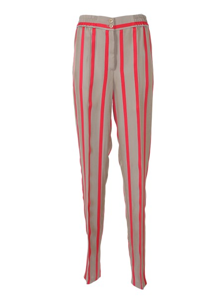 Shop ETRO  Trousers: Etro striped trousers in viscose. Straight cut. Zip and two buttons closure. Elastic waistband. Two back pockets. Composition: 100% viscose. Made in Italy.. 17634 1607-0800