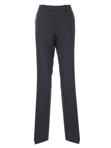 Shop ETRO  Trousers: Etro black viscose trousers. Straight cut. Zip and button closure. Two back pockets with button. Composition: 95% viscose 5% elastane. Made in Italy.. 17636 8608-0001