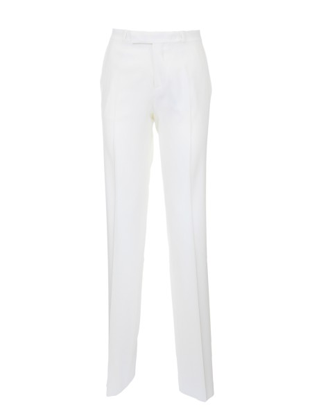 Shop ETRO  Trousers: Etro white viscose trousers. Straight cut. Zip and button closure. Two back pockets with button. Composition: 95% viscose 5% elastane. Made in Italy.. 17636 8608-0990