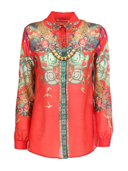 Shop ETRO  Shirt: Etro shirt in cotton and silk, with a print that evokes the circus myths. Long sleeves. Button closure. Boyfriend fit. Composition: 72% cotton 28% silk. Made in Italy.. 17831 9508-0600